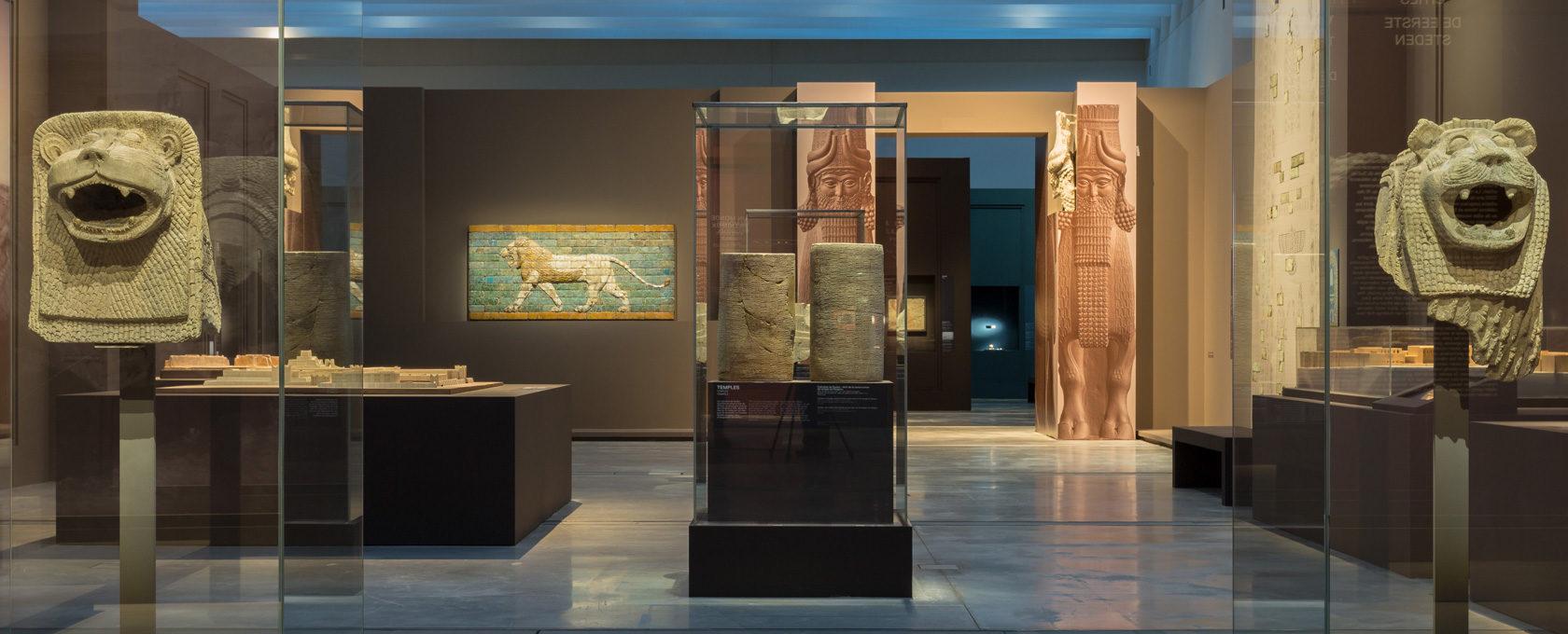 """Vue de l'exposition """"L'Histoire commence en Mésopotamie"""""""