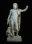 Jupiter, roi des dieux romains, portant le foudre et accompagné de l'aigle