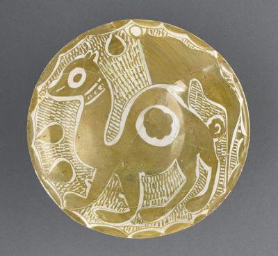 oeuvre MAO 379 Louvre coupe dromadaire Iraq lustre métallique